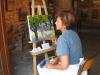 Démonstration de peinture par Evelyne FELLER