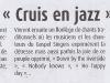Concert Gospel - Article paru dans Haute-Provence-Info le 23 juillet.