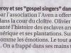 Concert Gospel - Article paru dans La Provence le 20 juillet.