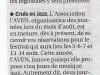 Cruis en Jazz - Annonce La Provence du 6 juin par A. BESSAC