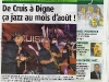 Cruis en Jazz - Article HPI du 12 août 2011 (1/2)