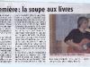 Soupe aux livres 2011 - Article Haute Provence Info du 25 mars 2011