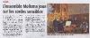 HPI du 30 septembre - Concert Mélisma en l\'église de Cruis
